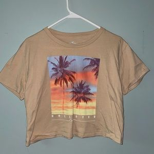 Cropped Hollister T-shirt
